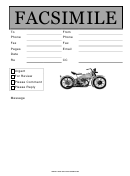 Facsimile Template - Motorcycle