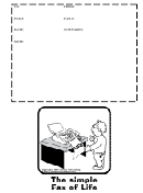 Illustrated Fax Cover Sheet