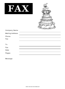 Wedding Cake - Fax Cover Sheet