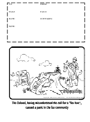 Fax Cover Sheet - Illustrated (black And White)