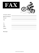 Dirt Bike - Fax Cover Sheet