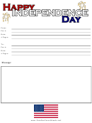Independence Day - Fax Cover Sheet