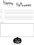Happy Halloween - Fax Cover Sheet