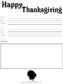Happy Thanksgiving Fax Cover Sheet