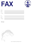 Blue Anchor - Fax Cover Sheet