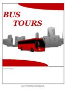 Bus Tours Flyer Templates