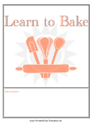 Learn To Bake Flyer Template