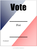 Voting Flyer Template