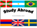 Study Abroad Flyer Templates
