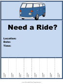 Need A Ride Flyer Template