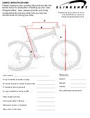 Slingshot Bike Size Chart