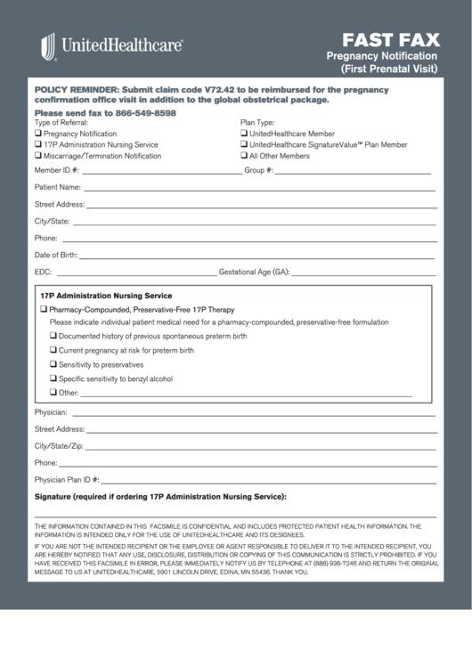 pregnancy notification printable pdf download