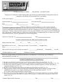 Employment Verification, Accident Information, And Alcohol Controlled Substance Testing Information Form
