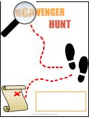 Scavenger Hunt Flyer Template