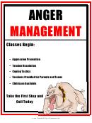 Anger Management Class Flyer Template