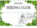 Hiking Club Flyer Template