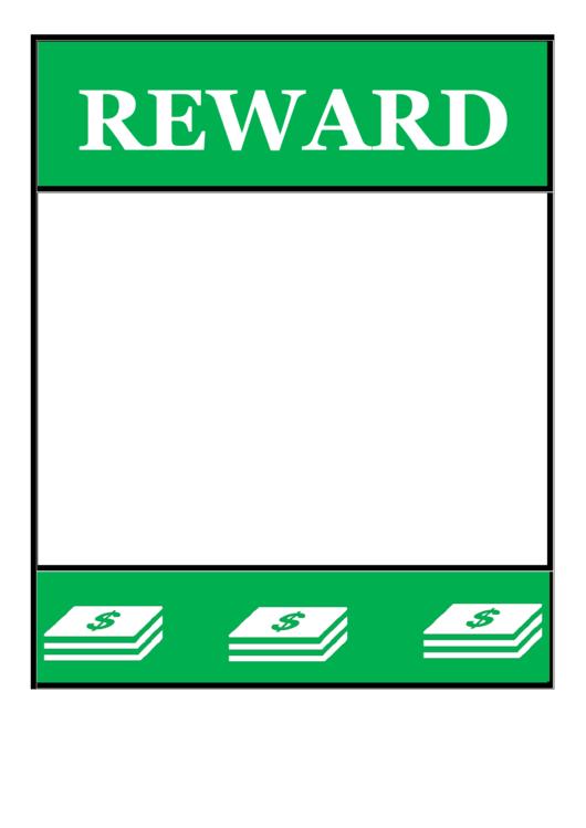 Green Reward Poster Template