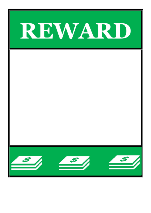 Green Reward Poster Template printable
