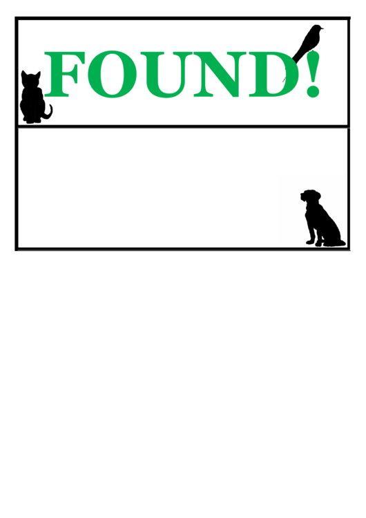 Found Pet Poster Template