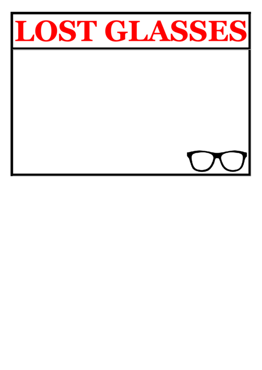 Lost Glasses Poster Template
