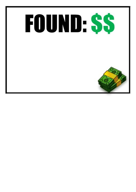 Found Cash Poster Template Printable pdf