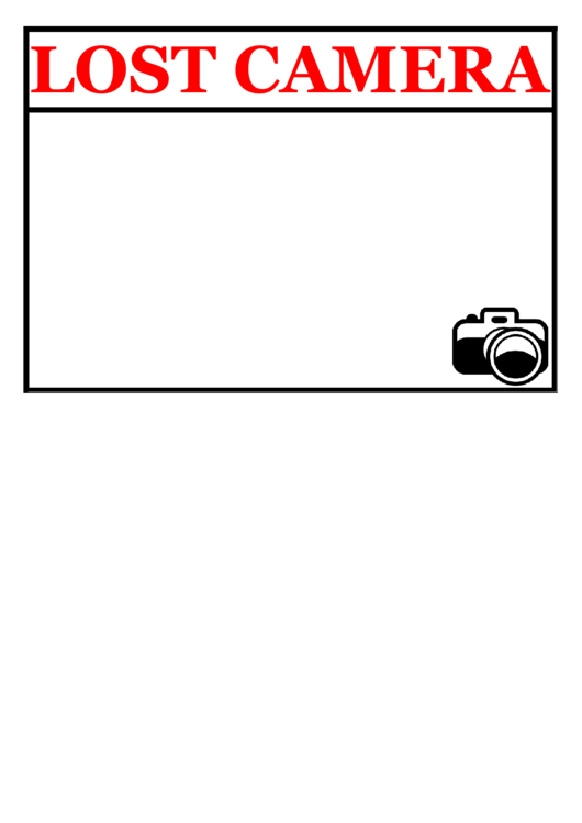 Lost Camera Poster Template