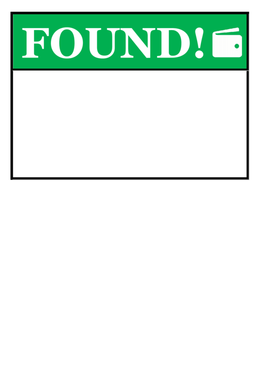 Found Wallet Poster Template Printable pdf