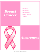 Breast Cancer Meeting Flyer Template
