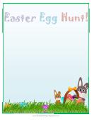 Easter Egg Hunt Page Border Template
