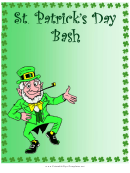 St Patrick's Day Bash Flyer Template
