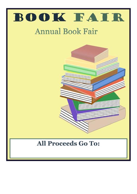Book Fair Flyer Template Printable pdf