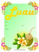 Luau Flyer Template