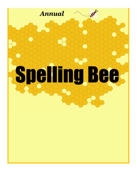 Spelling Bee Flyer Template