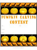 Pumpkin Carving Flyer Template
