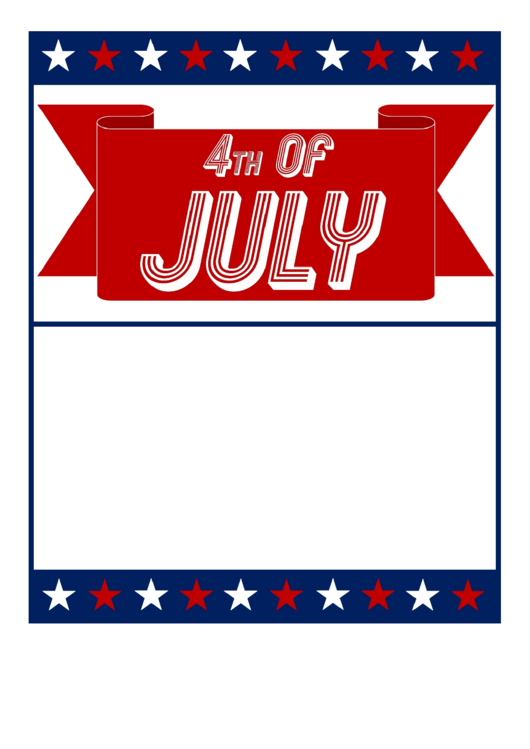 4th Of July Flyer Template Printable pdf