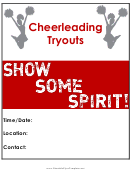 Cheerleading Tryouts Flyer Template
