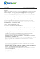 Job Description Template - Business Development Manager