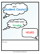 Student Council Flyer Template