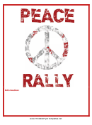 Peace Rally Flyer Template