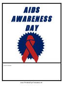 Aids Awareness Day Flyer Template