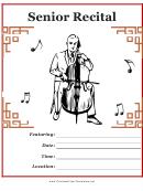 Senior Recital Flyer Template