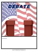 Debate Flyer Template