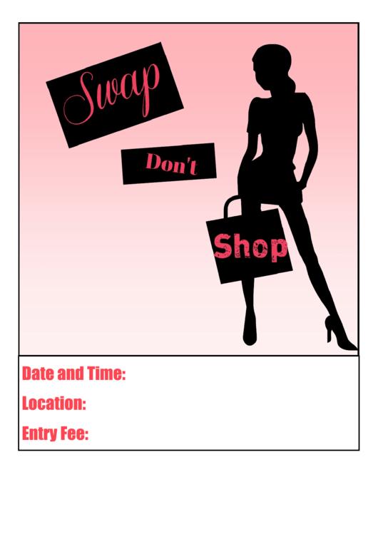 Clothes Swap Flyer Template Printable pdf