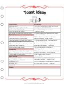 Wedding Toast Ideas Template