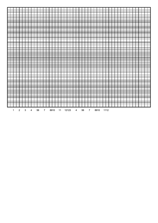 Graph Paper Template - 1 Day By Half Hour 100 Printable pdf