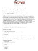 Job Description: Manufacturing - Production Superintendent