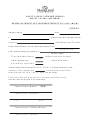 Sworn Statement Of Landlord Pursuant To N.j.s.a.