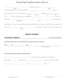 Guardian Authorization Form