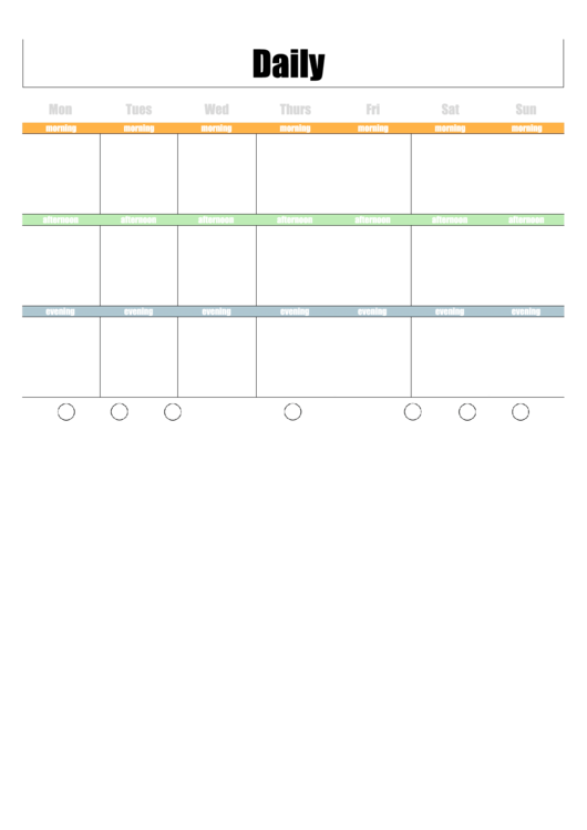 Two Page Daily Calendar Template