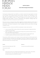 Junior Web Designer Job Description Template